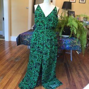 Green Paisley Jumpsuit   H&M